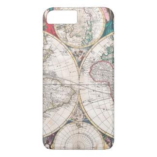 Antique Double-Hemisphere World Map iPhone 8 Plus/7 Plus Case