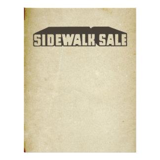 Antique Downtown Sidewalk Sale Graphic Sale Font 21.5 Cm X 28 Cm Flyer