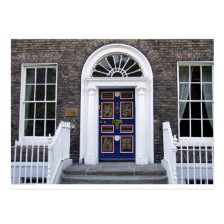 Antique Dublin doorway postcard, Merrion square Postcard