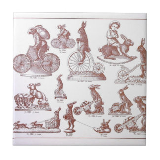 Antique Easter Chocolate Mold Catalogue Bunnies Tile