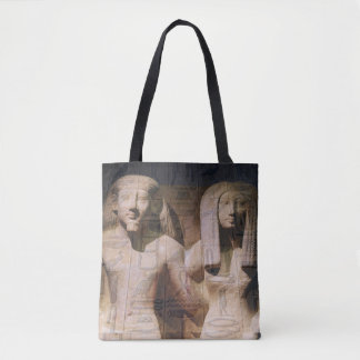 Antique Egyptian Couple with Hieroglyphs Tote Bag