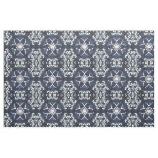 Antique Elegant Dutch Delfts Blue Floral Pattern Fabric