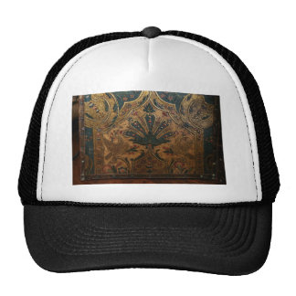 ANTIQUE EMBOSSED FRENCH FAUX LEATHER TRUCKER HATS