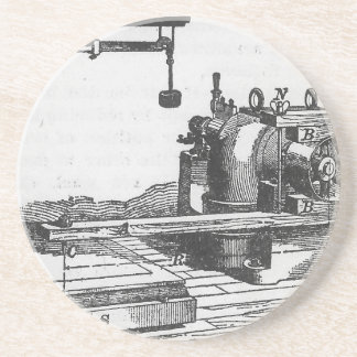 Antique Engineering Tool Vintage Ephemera Coaster