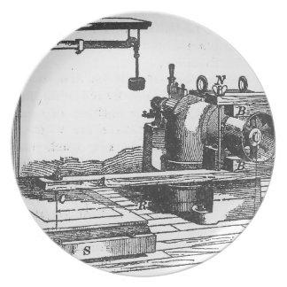 Antique Engineering Tool Vintage Ephemera Plate