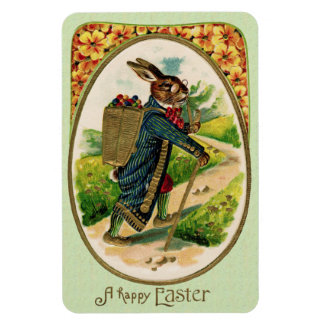 Antique Erudite Easter Rabbit Magnet