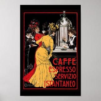 Antique Espresso Expresso Coffee Italian Poster