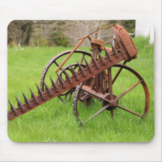 Antique Farm Equipment Mouse Pad