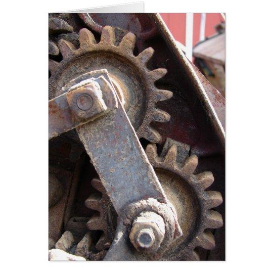 Antique Farm Machinery Gears Card