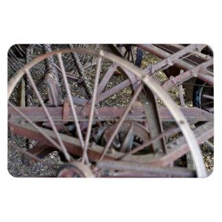 Antique farm machinery rectangular magnets