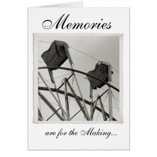 Antique Ferris Wheel Custom Greeting Cards