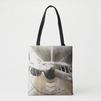 Antique Fighter Airplane Propeller Tote Bag