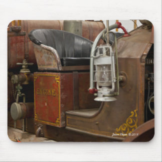 Antique Firetruck Mouse Pad