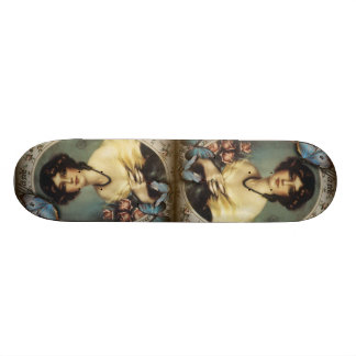 Antique Floral Butterfly Old fashion Paris Lady Skate Boards