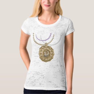 Antique Floral Lace Doily Charm & Pearls Tees