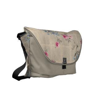 Antique Floral Pattern Messenger Bag