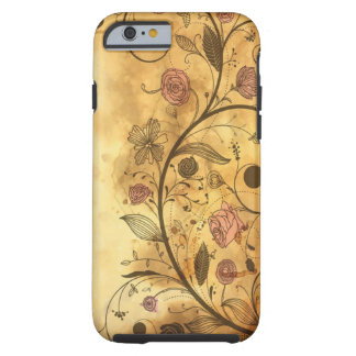 Antique Floral Pattern Tough iPhone 6 Case