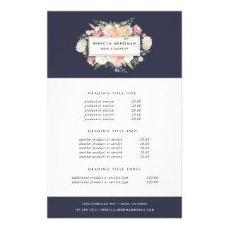 Antique Floral Pricing & Services 14 Cm X 21.5 Cm Flyer