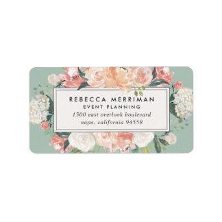 Antique Floral Sage Green Return Address Address Label
