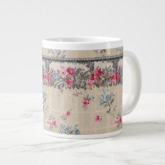 Antique Floral Wallpaper Giant Coffee Mug