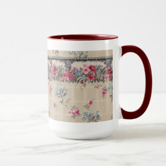 Antique Floral Wallpaper Mug