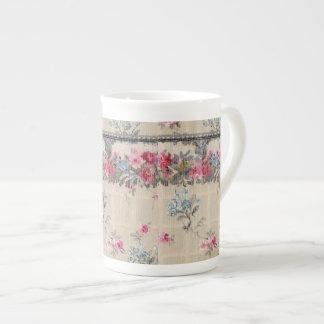 Antique Floral Wallpaper Tea Cup