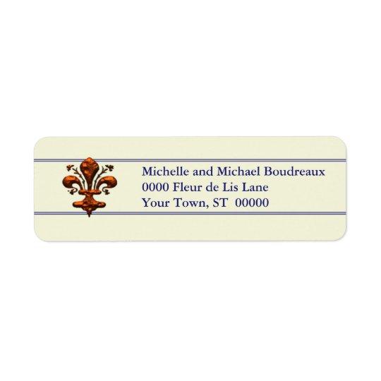 Antique Florence Style Fleur de Lis Return Address Label