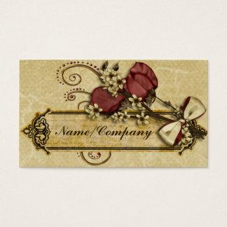 Antique Flowers Business Card