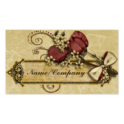 Antique Flowers Business Card Templates