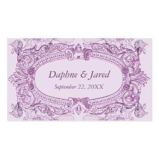 Antique Frame Lilac Wedding Placecard Business Card Templates