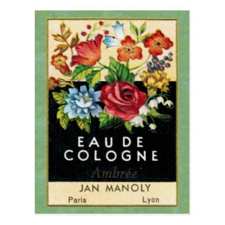 Antique French Ambree Perfume Postcard