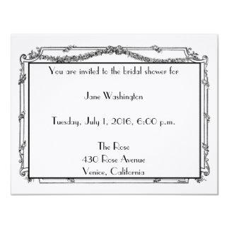 Antique French Bridal Shower Invitation
