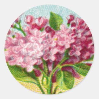 Antique French Lilac Round Sticker