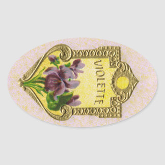 Antique French Violet Perfume Sticker