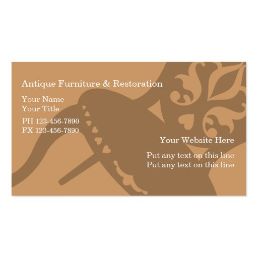 Antique Furniture Business Cards