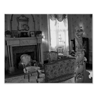 Antique Furniture Vintage Black And White Photo Poster