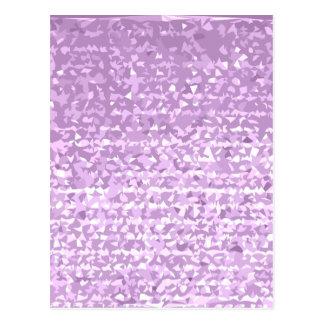 Antique Fuschia Camo Abstract Low Polygon Backgrou Postcard