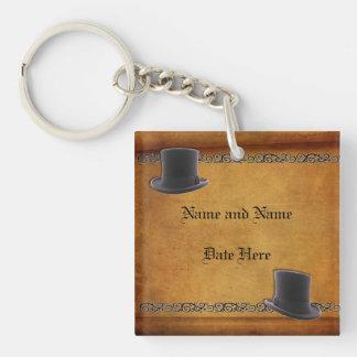 Antique Gay Wedding Custom Keychain Favors