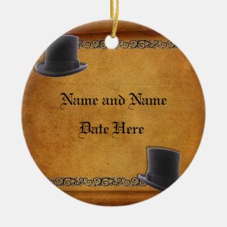 Antique Gay Wedding Custom Ornament Favors