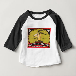 Antique Gazelle Swedish Matchbox Label Baby T-Shirt