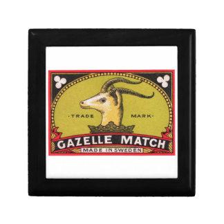 Antique Gazelle Swedish Matchbox Label Gift Box