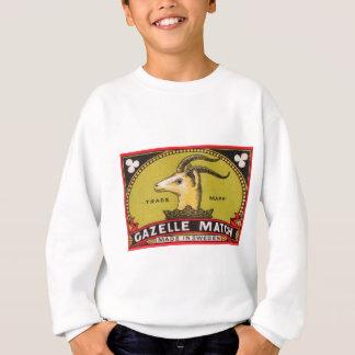Antique Gazelle Swedish Matchbox Label Sweatshirt