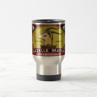 Antique Gazelle Swedish Matchbox Label Travel Mug