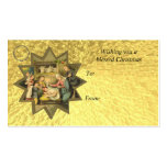 Antique German Christmas Nativity Gift Card Tag