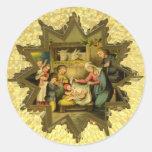 Antique German Nativity on Sticker