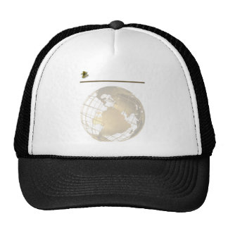 Antique Gold and Sextant on Gold and White Trucker Hats