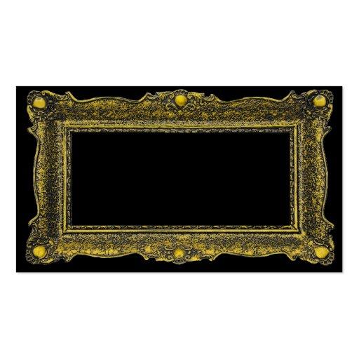 antique gold picture frame business card templates zazzle