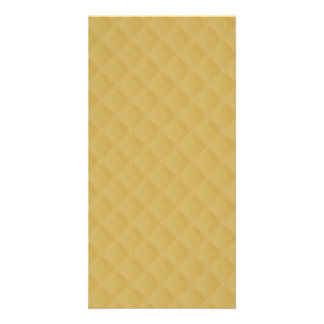 Antique Gold Stitched Quilt Pattern Photo Card Template