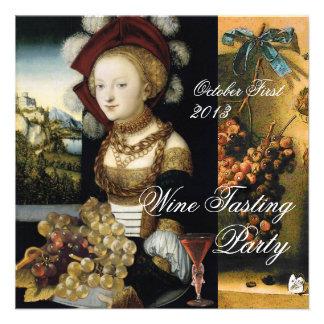 ANTIQUE GRAPE VINEYARD WINE TASTING PARTY CUSTOM INVITES