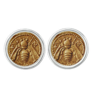 ANTIQUE GREEK HONEY BEE COIN Printed Cuff Links